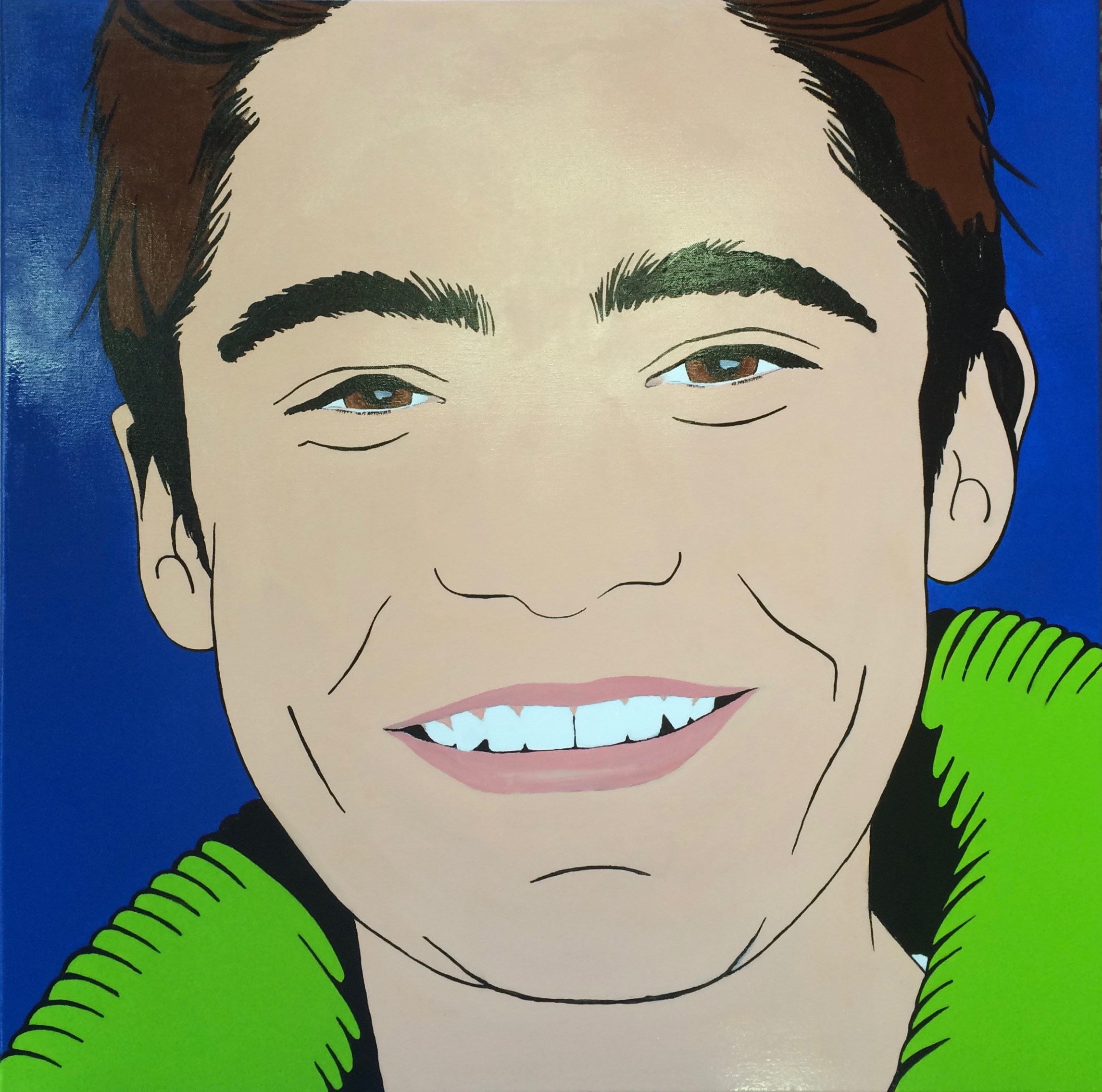 Pop Art-portret in opdracht