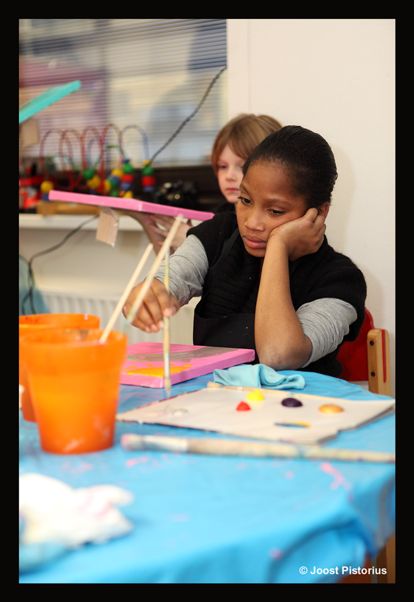 MVO, schilderen met zieke kinderen